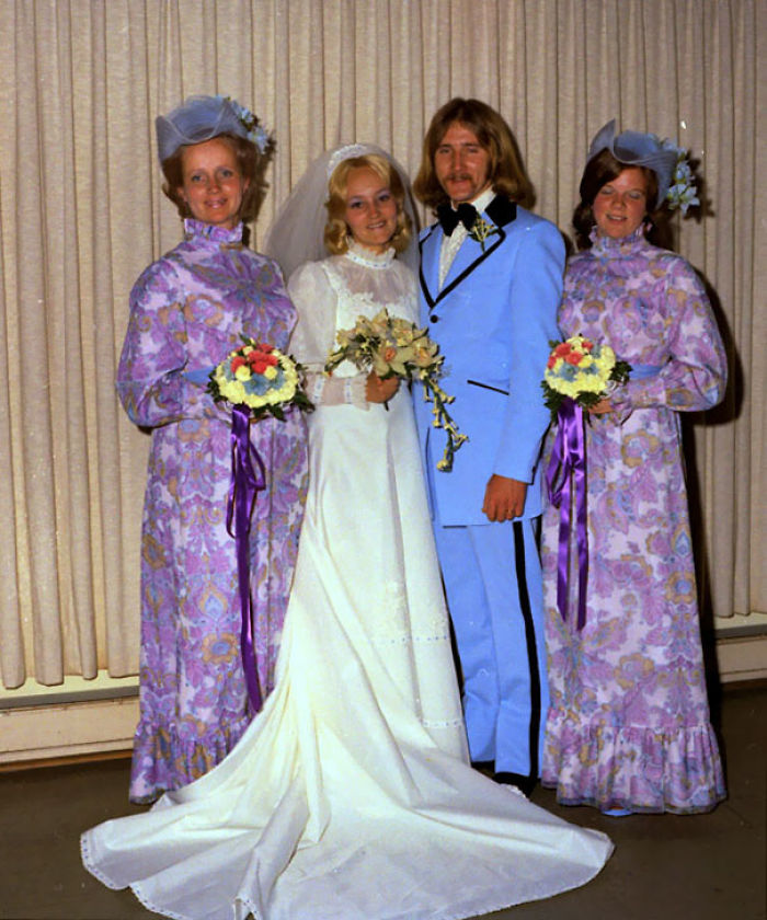 Funny Wedding Gowns: 46 Hilarious Vintage Bridesmaid Dresses That Didn't Stand