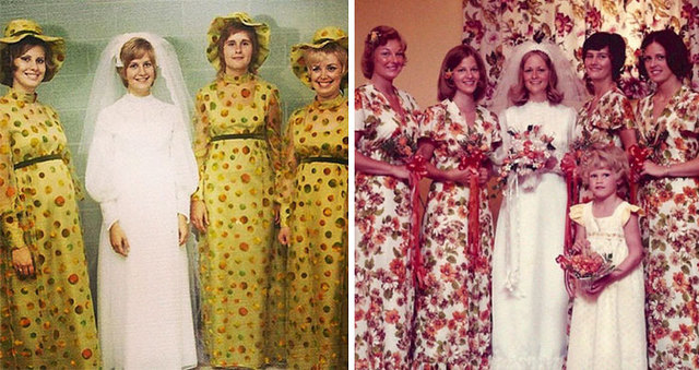Worst bridesmaids dresses demilked 15 hilarious vintage bridesmaid dresses that didnt stand the test of time junglespirit Image collections