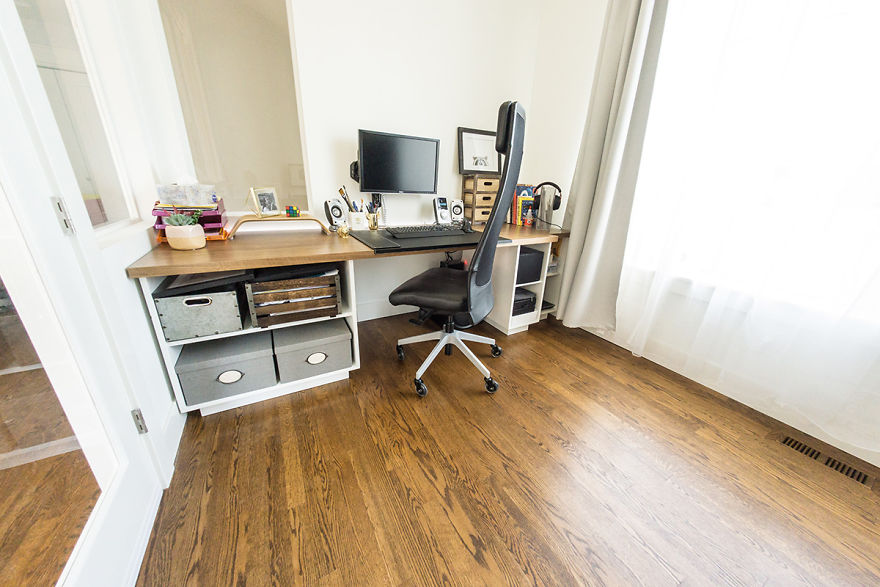 Reddit User Turns His Living Room Into A Home Office And It ...