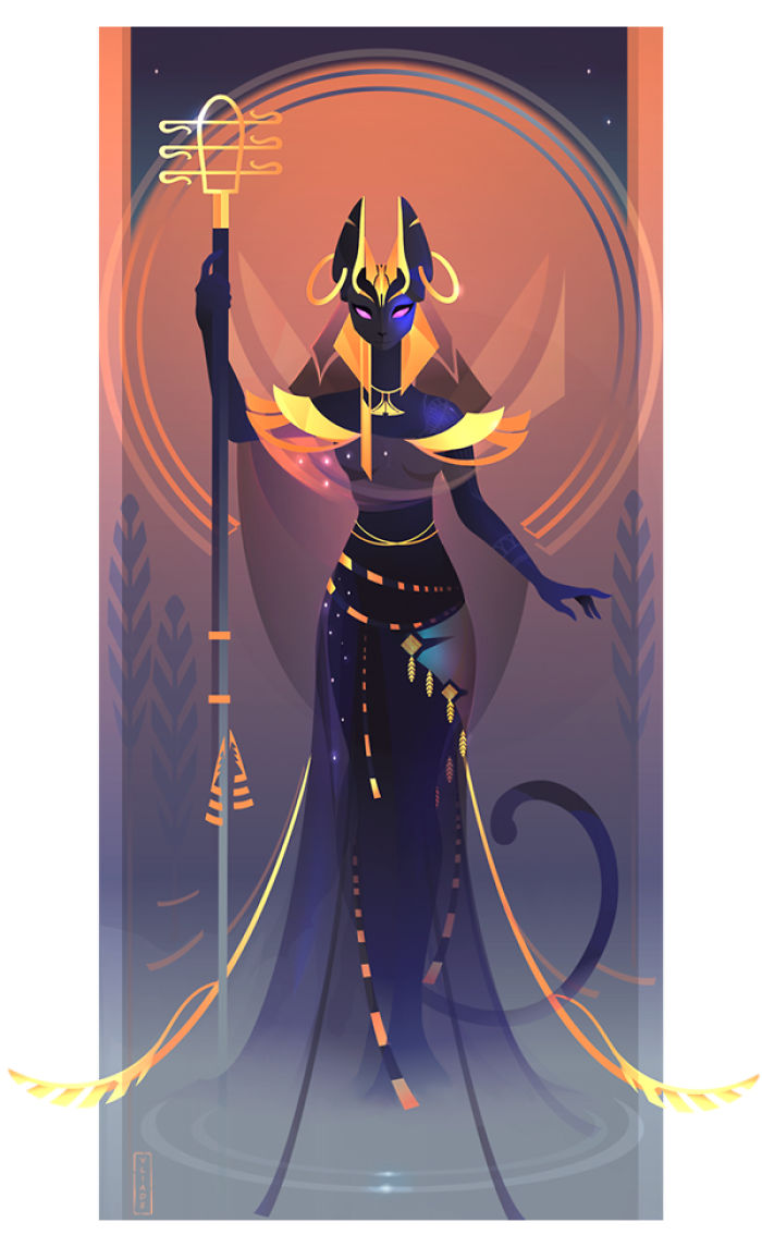 This French Artist Created 11 Beautiful Illustrations Of Ancient Egyptian Gods And Goddesses Demilked