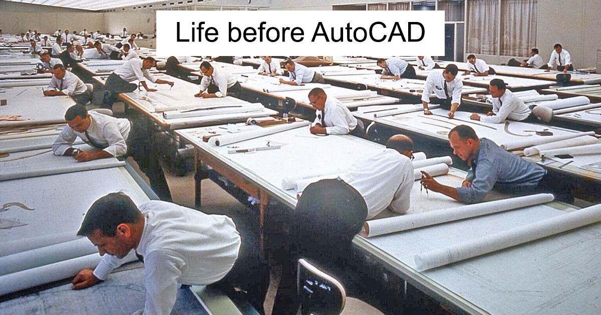 19 Vintage Pictures Showing How People Worked When There Was No AutoCAD
