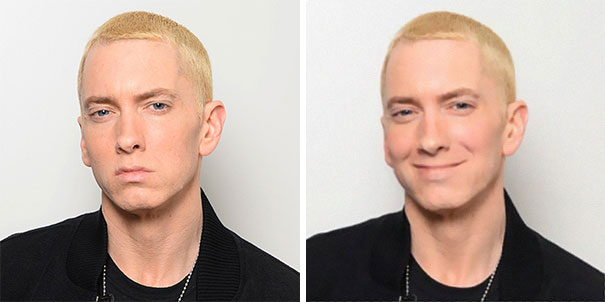 Guy Photoshops Eminem 'Smiling' And The Pictures Instantly