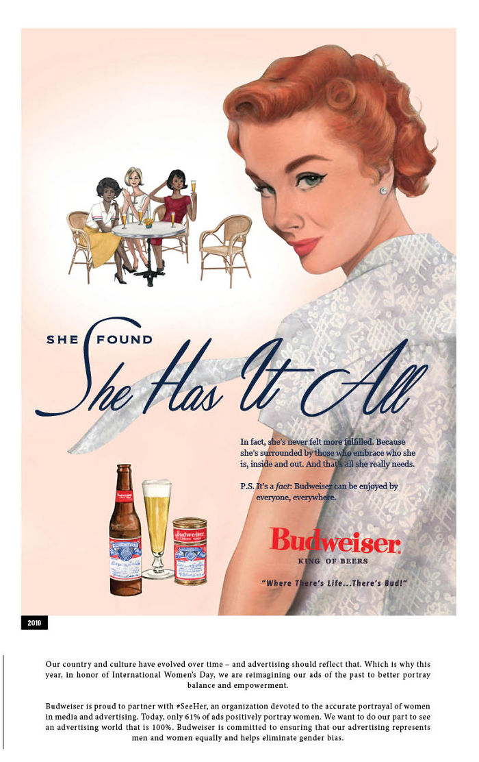 Budweiser Adapted Their Sexist Ads From The 50s And 60s To