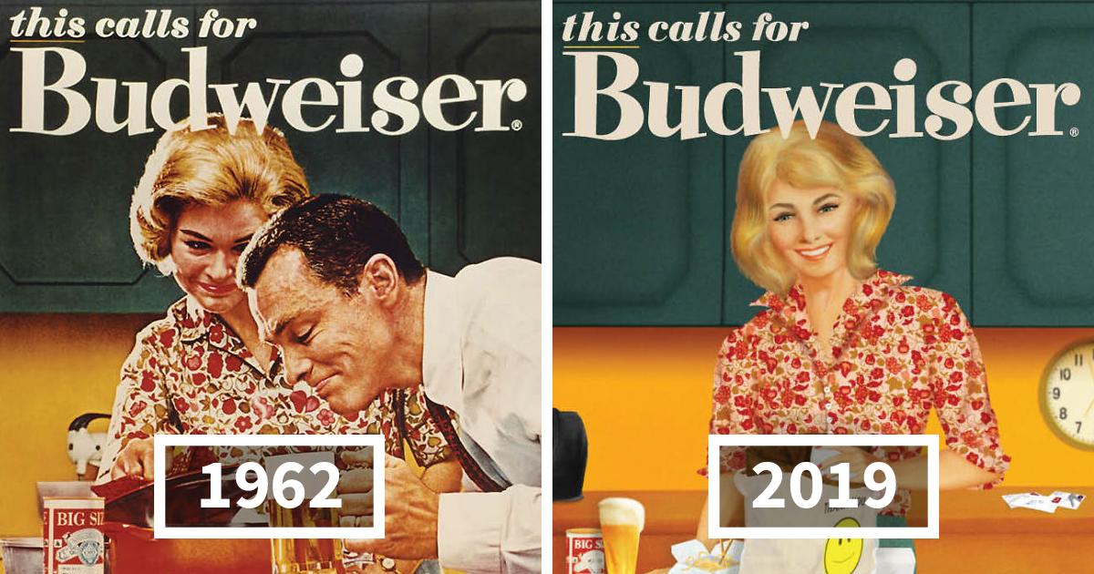 Budweiser Adapted Their Sexist Ads From The 50s And 60s To 2019