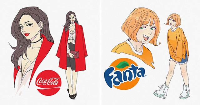 This Artist Reimagined 13 Popular Sodas As Cartoon Characters