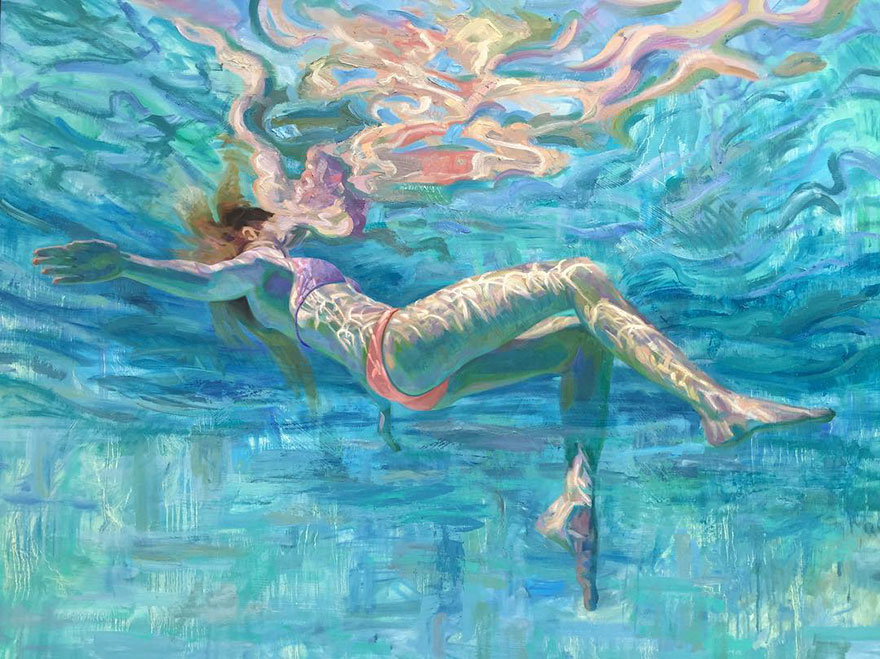 Image result for water modern painting