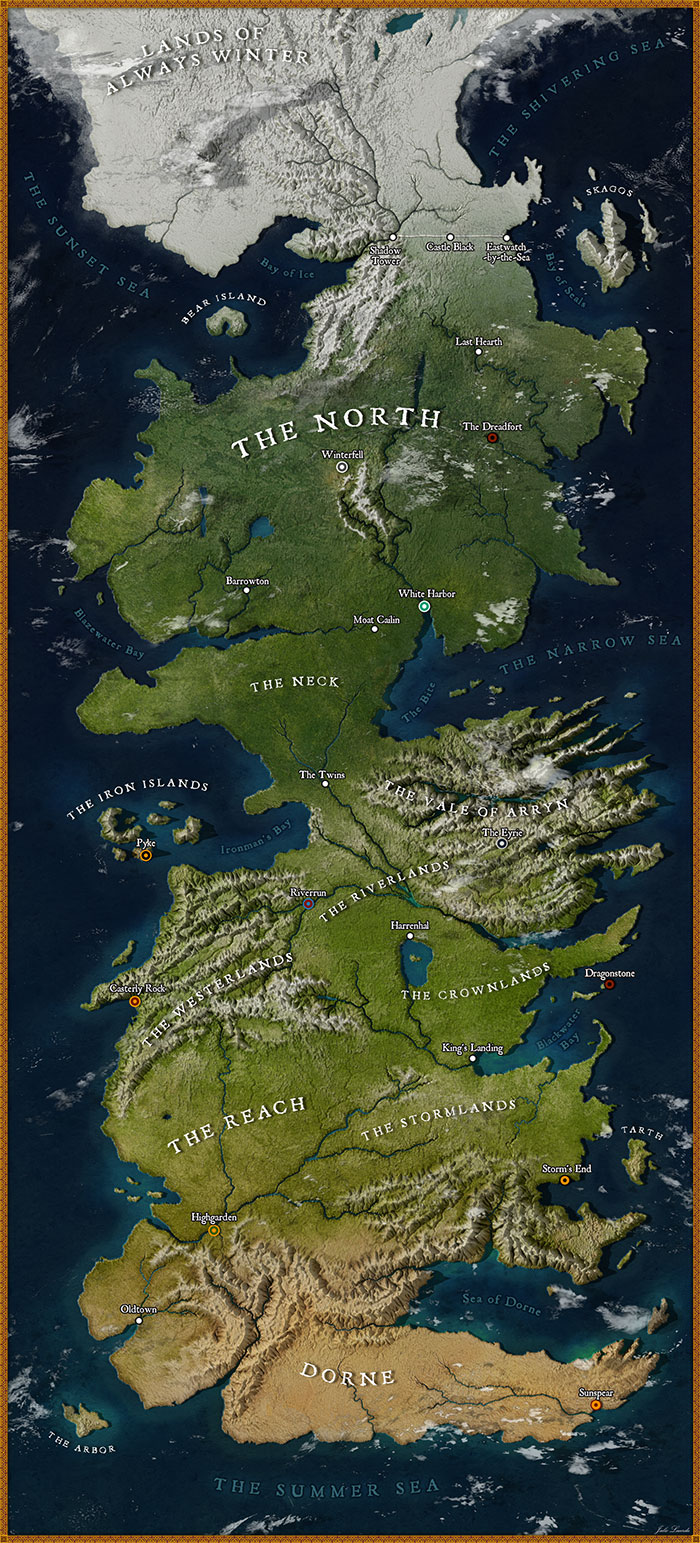Got Fan Recreates A High Resolution Map Of Westeros And It Looks