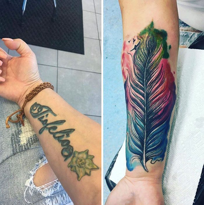 31 Times People Covered The Tattoos Of Their Exes Names In