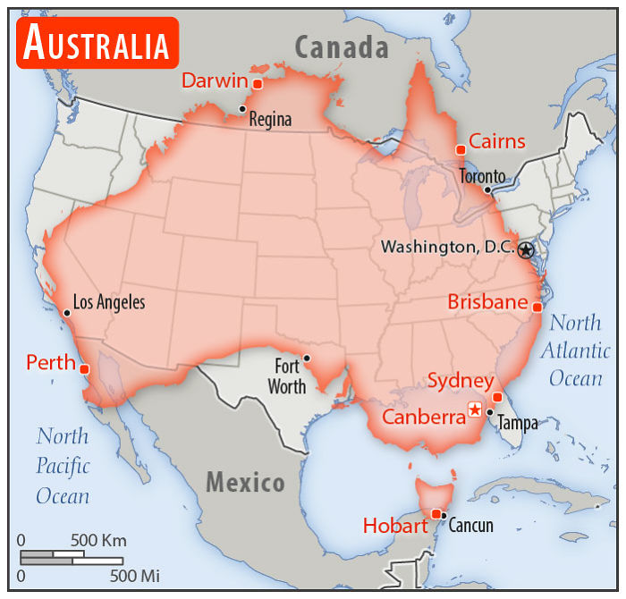 Someone Compared The Sizes Of 30 Countries To USA With A ...