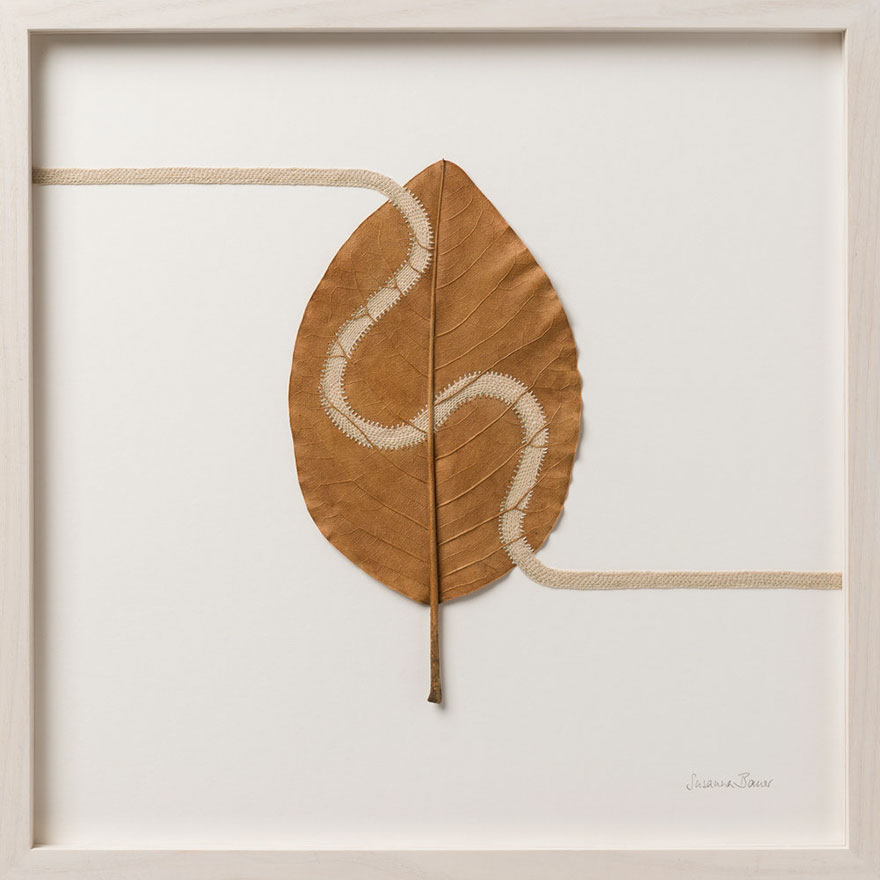 This Artist Uses Her Crocheting Skills To Turn Dried Leaves