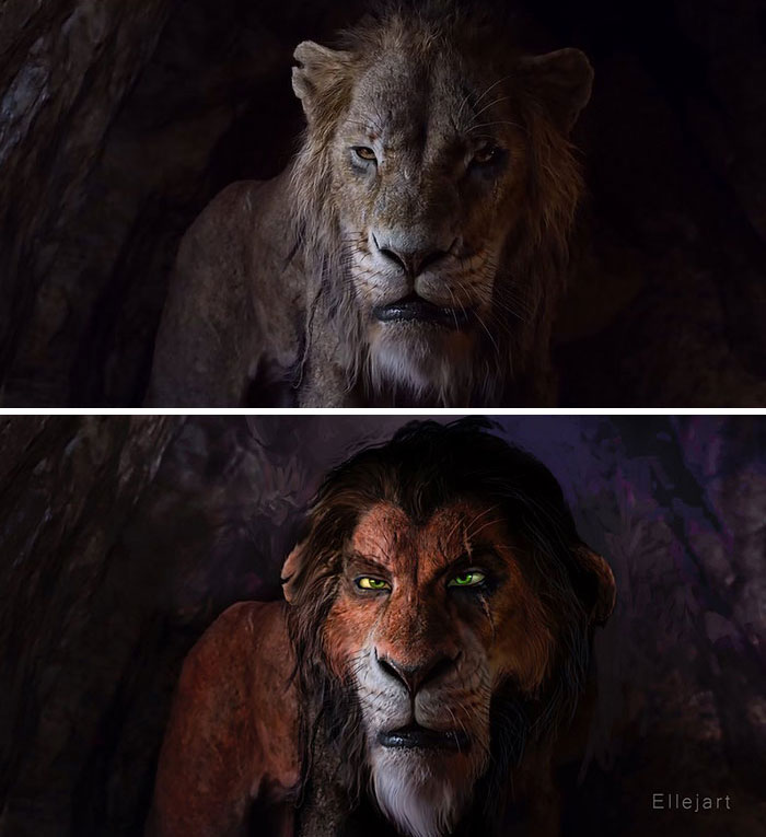 Artists Gave The New Lion King Characters Old School Makeovers And Now People Are Divided Demilked