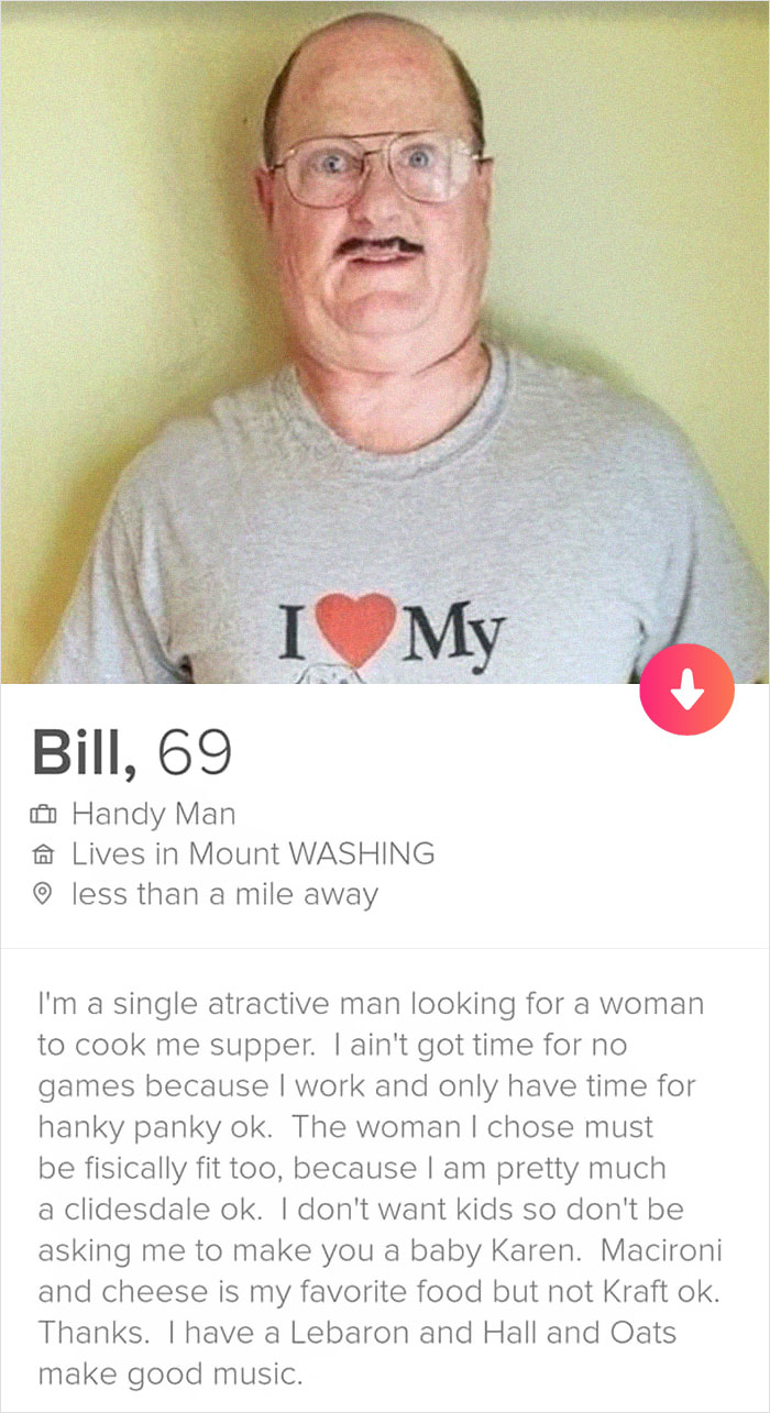 5d47e0e977448 bill handy man funny tinder profile 1 5d413f0dc612e  700 - View funny tinder photos