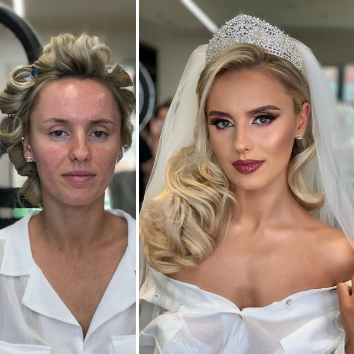 23 Brides Before And After Their Wedding Makeup That Youu0027ll Barely