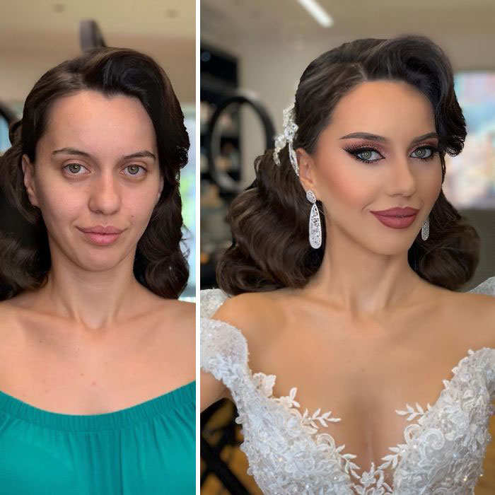 23 Brides Before And After Their Wedding Makeup That You Ll