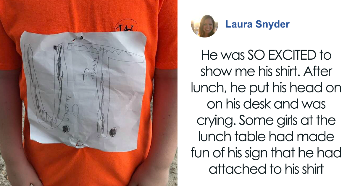 kid whose homemade shirt was mocked by others  receives