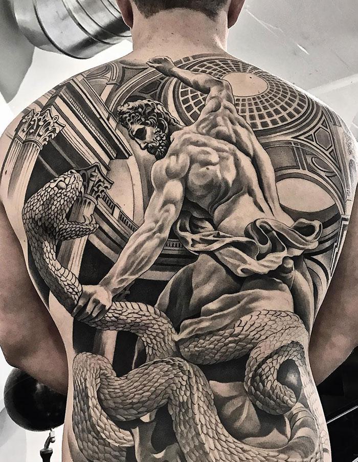 30 Amazingly Detailed Full Back Tattoos Demilked
