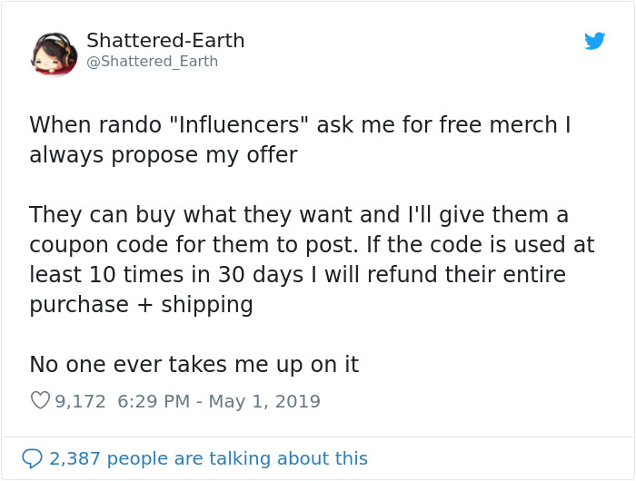 30 Times Influencers Got Publicly Shamed For Trying To Get Free Stuff
