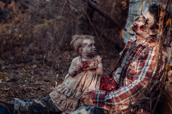 Father And 11-Month-Old Daughter Get Turned Into Zombies