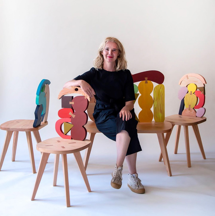 These Colorful Chairs By Designer Donna Wilson Are Excellent Dinner Table Companions Demilked