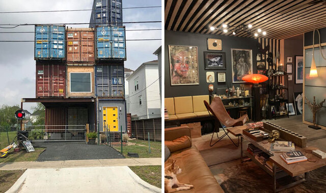 Man Builds 2 500 Square Foot Dream Home Out Of 11 Shipping