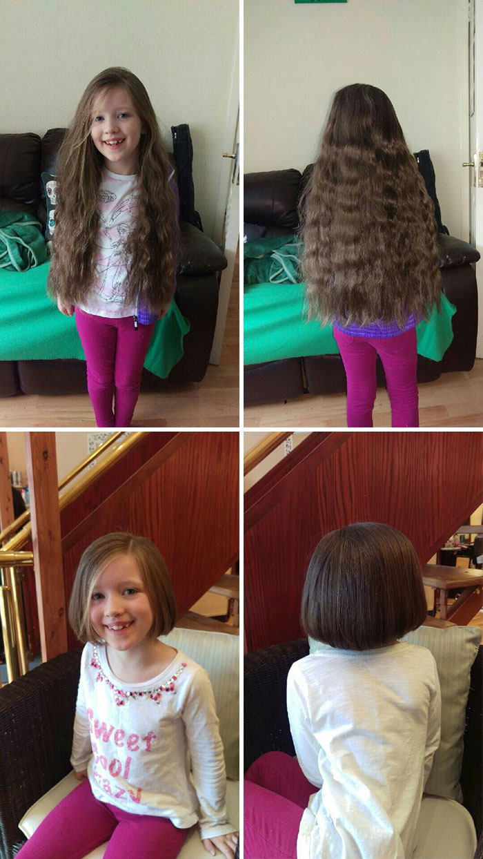 12 Before And After Pics Of People Who Cut Off Their Long Hair And