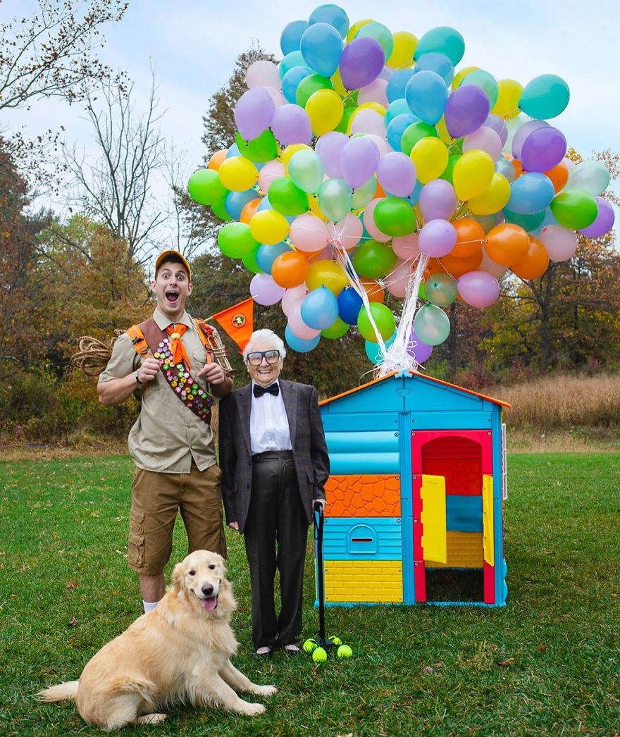 Grandson And 93-Year-Old Grandma Dress Up In Funny Outfits And Pose For Hilarious Photos (30 Pics) | DeMilked