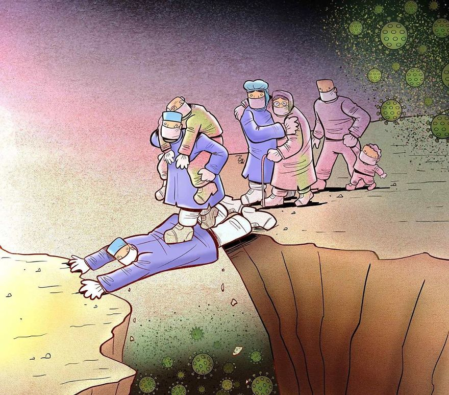 29 Heartbreaking Illustrations By Alireza Pakdel That Show