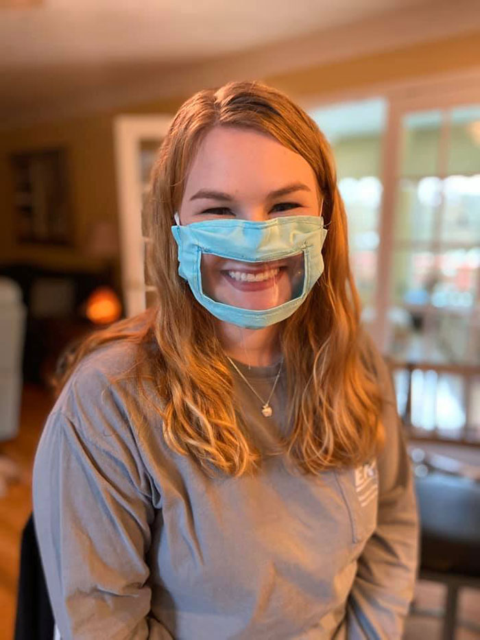 21-Year-Old Student Creates Transparent Face Masks For The Deaf And Hard Of Hearing