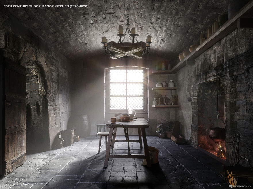 Here S How Kitchen Designs Changed Over The Past 500 Years