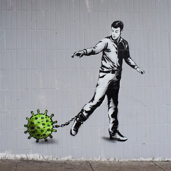 40 Of The Best Coronavirus Related Pieces Of Street Art