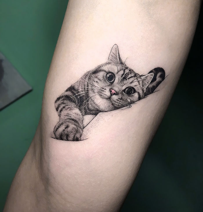 30 Adorable Cat Tattoos Every Cat Owner Would Be Jealous Of