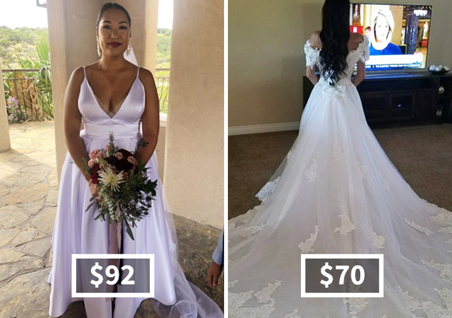 20 Brides Who Proved You Don T Have To Spend Thousands On A Wedding Dress Demilked,Short Red Dress For Wedding
