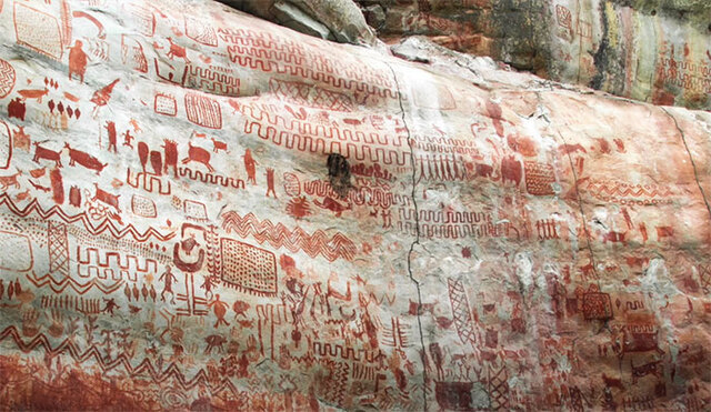 Archaeologists Discover Thousands Of Ancient Cave Paintings Deep Withing  The Amazon Rainforest | DeMilked