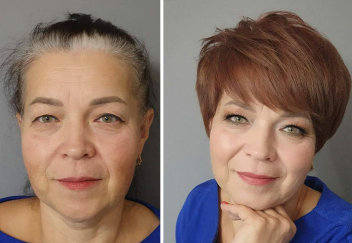 "20 Women That Allowed This Makeup Artist And Hairstylist Duo To ""Freestyle"" Their Makeovers, And Got Incredible Results (New Pics)"