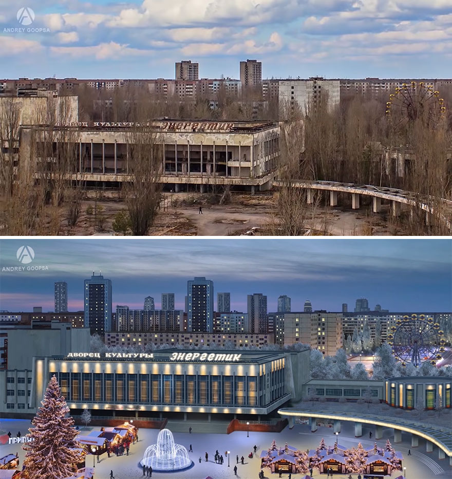 20 Before And After Pics By Digital Artist Andrey Goopsa Showing How Post-Soviet Countries Should Look Today