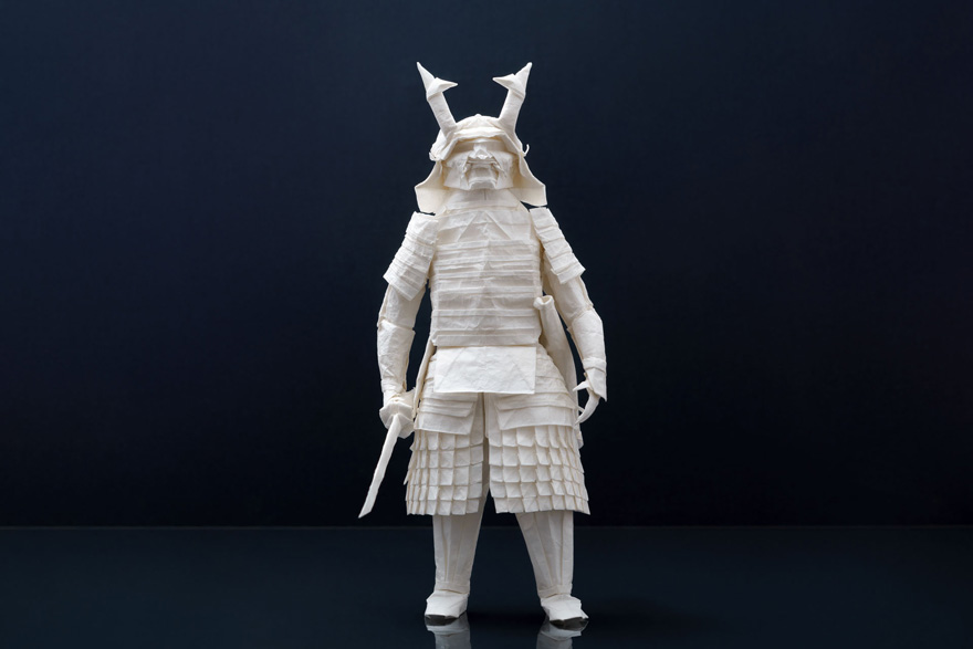 Finnish Origami Artist Juho Könkkölä Folds An Incredibly Detailed Samurai Using Just One Sheet Of Paper