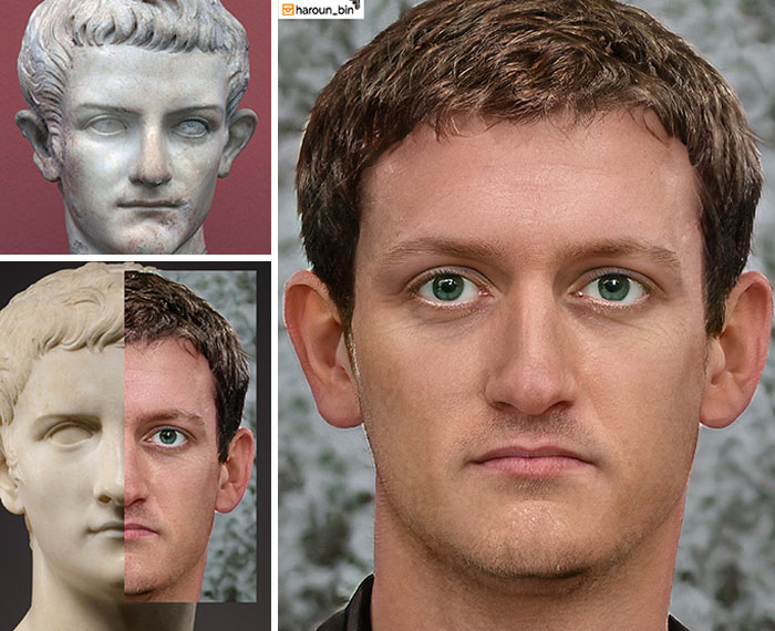 Reconstitution du visage de l'empereur romain Caligula par l'artiste Haroun Binous - Cultea