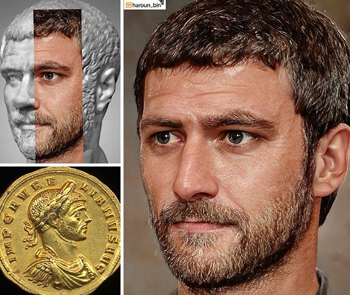 Reconstitution du visage de l'empereur romain Aurélien par l'artiste Haroun Binous - Cultea