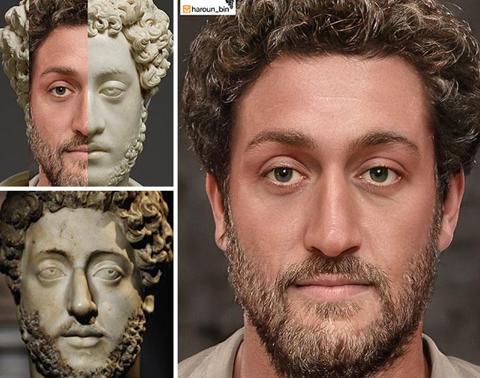 Reconstitution du visage de l'empereur romain Commode par l'artiste Haroun Binous - Cultea