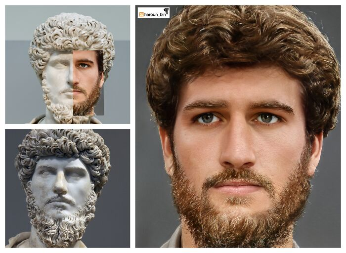 Reconstitution du visage de l'empereur romain Lucius Aurelius Verus par l'artiste Haroun Binous - Cultea