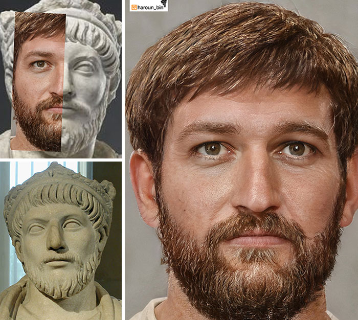 Reconstitution du visage de l'empereur romain Julien II l'Apostat par l'artiste Haroun Binous - Cultea