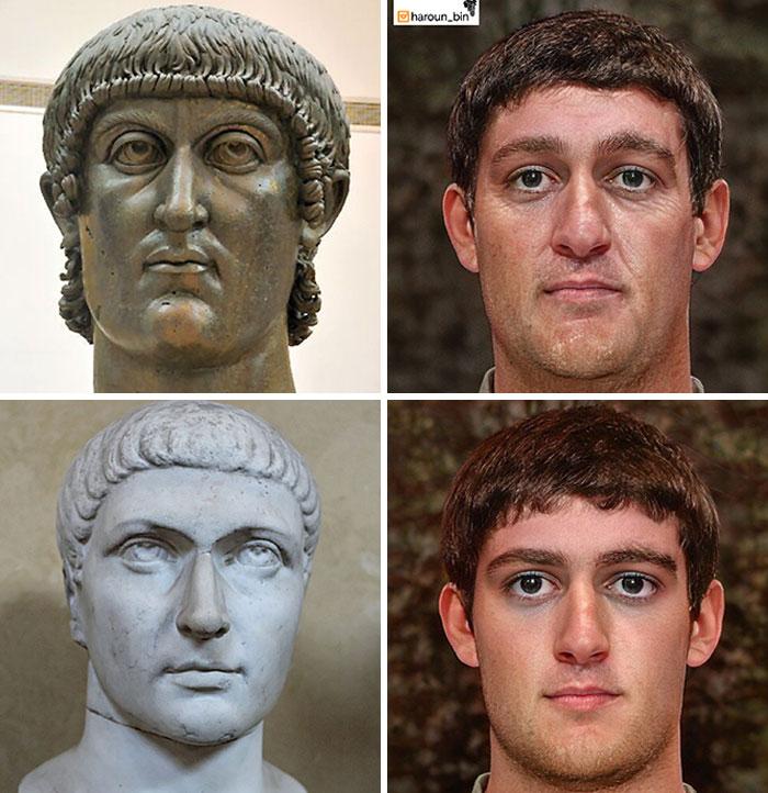 Reconstitution du visage de l'empereur romain Constantin le Grand par l'artiste Haroun Binous - Cultea