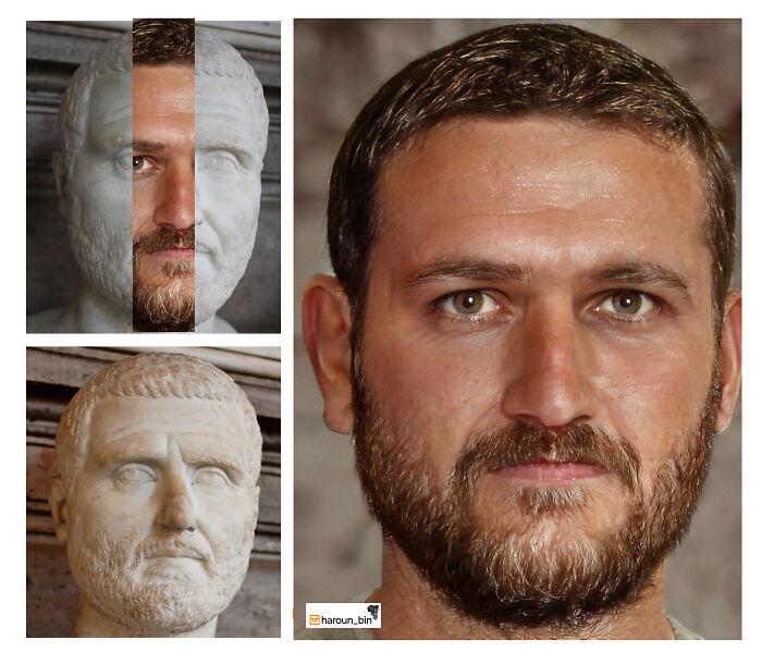 Reconstitution du visage de l'empereur romain Gordien Ier par l'artiste Haroun Binous - Cultea