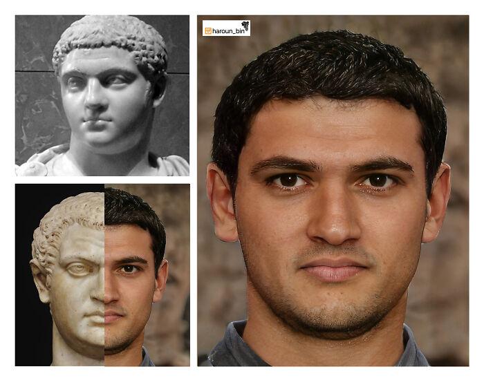 Reconstitution du visage de l'empereur romain Geta par l'artiste Haroun Binous - Cultea