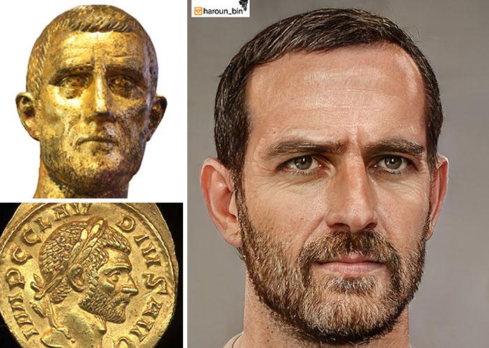 Reconstitution du visage de l'empereur romain Claudius II le Gothique par l'artiste Haroun Binous - Cultea