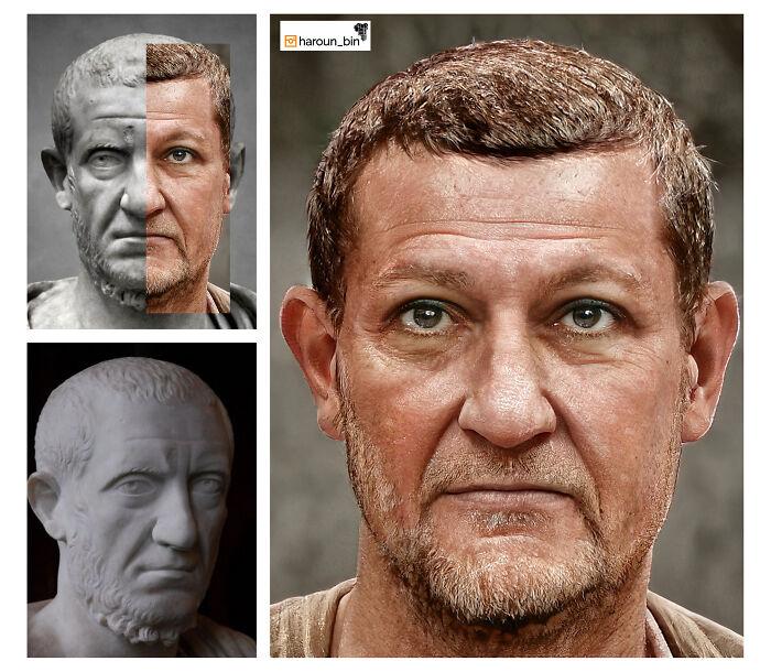 Reconstitution du visage de l'empereur romain Tacite par l'artiste Haroun Binous - Cultea