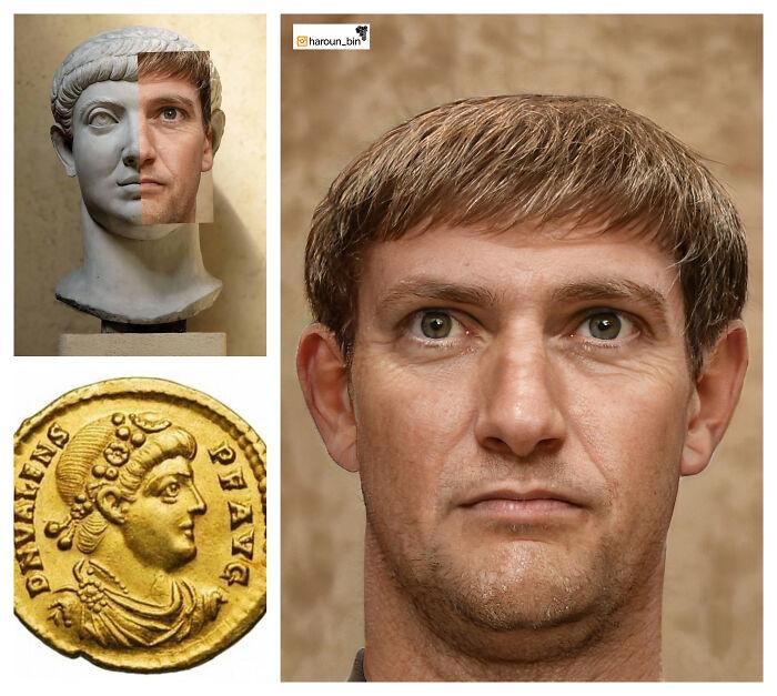 Reconstitution du visage de l'empereur romain Constantin II par l'artiste Haroun Binous - Cultea
