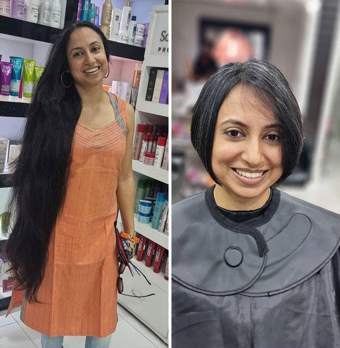20 Before And After Pics Of People Who Cut Their Long Hair And Donated It For A Good Cause (New Pics)