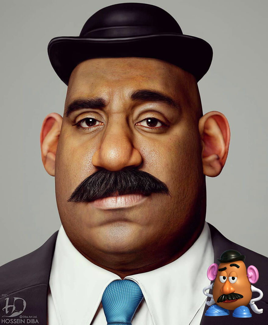 15 Illustrations Of Famous Characters In Real Life By Artist Hossein Diba