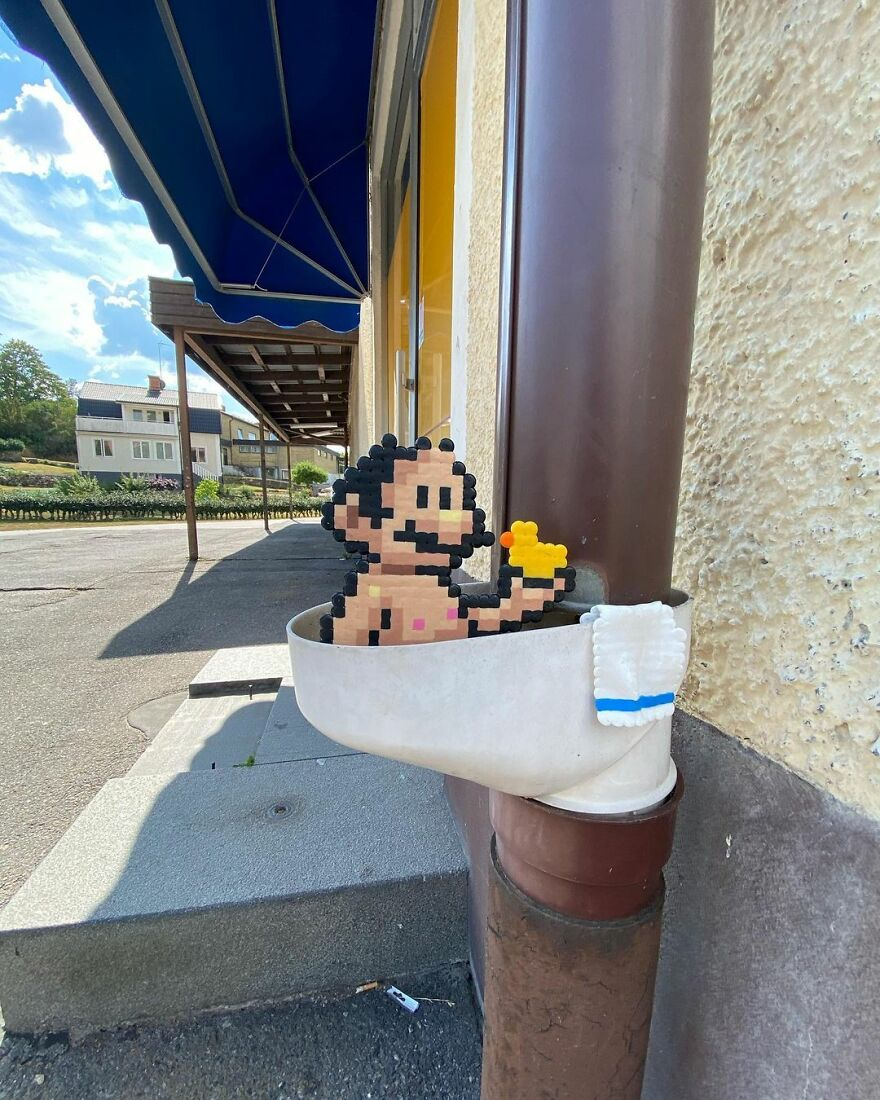 20 Most Creative And Unique Pixelated Art Created On Street By This Swedish Artist